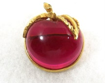 SARAH COVENTRY Vintage Brooch Cherry Jelly Belly Book Piece
