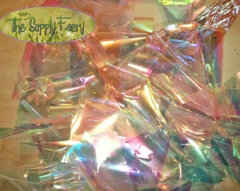 MEDIUM Scrap Iridescent Film Scraps Grab Bag Bundle Free Shipping for Multiple DIY Projects