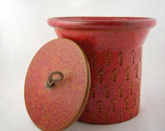 Mid Century Bitossi For Raymor Lidded Pottery Jar