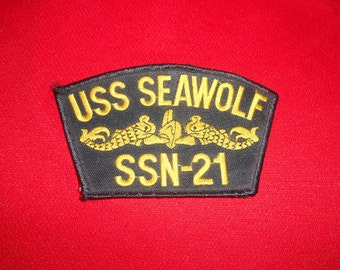 One (1), USS Seawolf SSN-21 Embroidered Patch.