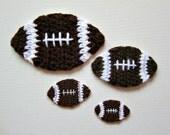 1pc Crochet FOOTBALL Applique
