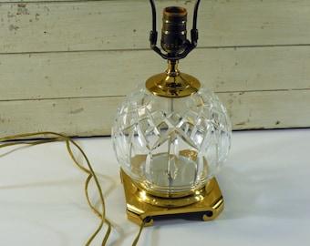 Vintage Waterford Crystal Lamp Etsy