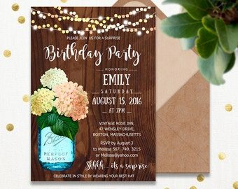 Surprise Birthday Invitations Printable Adult Th Birthday - Editable birthday invitations for adults