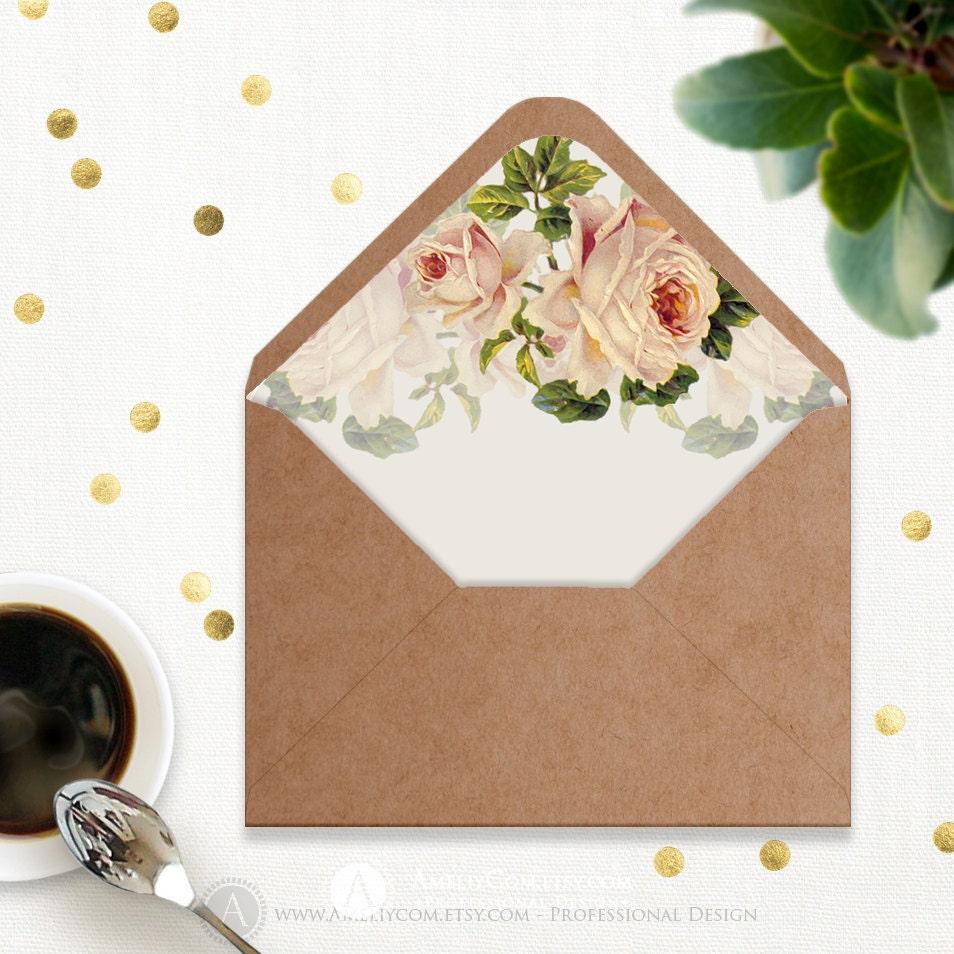 Printable Envelope Liner Template INSTANT DownLOAD A6 – Envelope Liner Template
