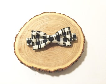 Houndstooth Baby/Toddler Bow Tie, Baby Bow Tie, Toddler Bow Tie, Bow Tie