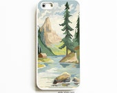 Rubber iPhone 5 Case. iPhone 5S Case. Paint by Number Mountains. iPhone 5 Cases. iPhone 5S Cases. Phone Case. iPhone Case.