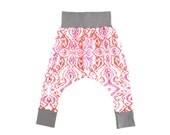 Magenta & Coral Red Ikat Classic Harem Pants 6m-6/7y www.brownsugarbeach.com