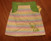 Pastel Cheveron Skirt