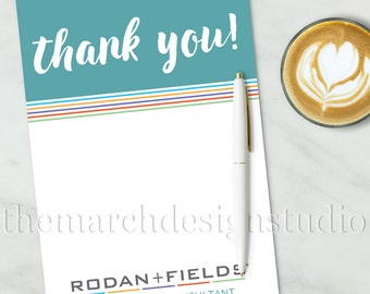Rodan and Fields Thank You Cards, Instant Download, Rodan and Fields Business Thank You, Customer Appreciation, DIY, Print at Home