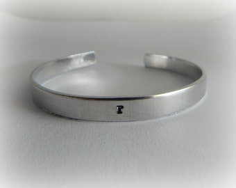 Initial Bracelet - Hand Stamped Initial Bracelet - Personalized Custom Bracelet - Initial Jewelry - New Mom Gift - Mother's Day Present