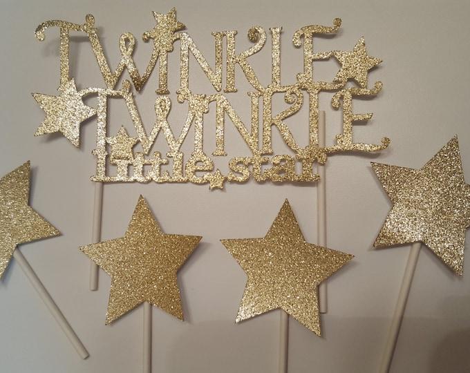 Twinkle twinkle little star cake topper | gold cake topper