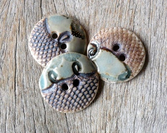 Porcelain  Sewing Buttons, Aqua Lace buttons , Crafting Supplies, Fashion Accessories,Spring Fashion