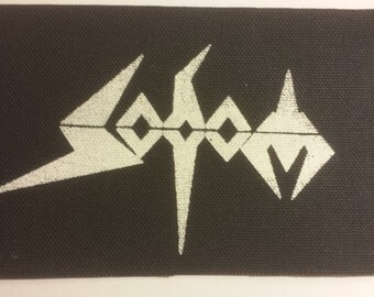 SODOM PATCH Black Canvas Punk Patch