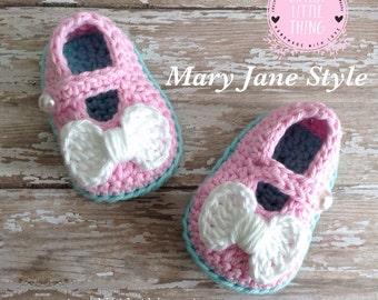 Crochet  Baby Girl Shoes, Crochet Girl Shoes, Crochet Girl Booties, Baby Girl Crochet Booties,Handmade Baby Booties