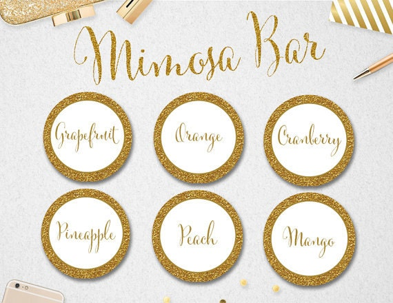 Sweet image inside free printable mimosa bar sign