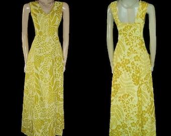 End of Summer Sale Vintage Ruth Clarage Jamaica Hand Printed Original Leaf Design Dress vintage dress summer dress pool party dress 60s dres