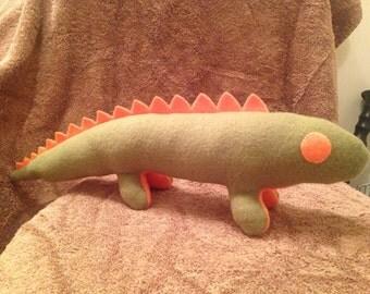 Green/Orange Lizard Plush