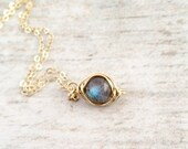 Fall Sale Labradorite Necklace in 14k Gold Filled
