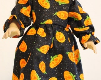 "Halloween Jack O Lantern fits  18"" American girl doll dress"