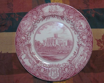 Old state capital of georgia wedgewood plate 1930 made in England