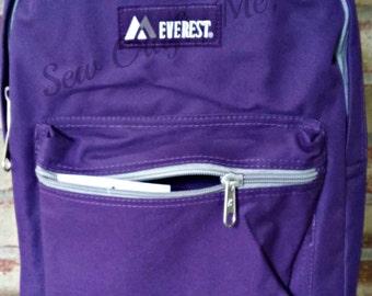 Solid Color Personalized Backpack/ Monogram Toddler Girls backpack/Preschool backpack/Grades K-3