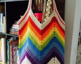 Crochet beach bag, cotton bag, market bag, market tote, crochet purse, crochet bag--MADE TO ORDER