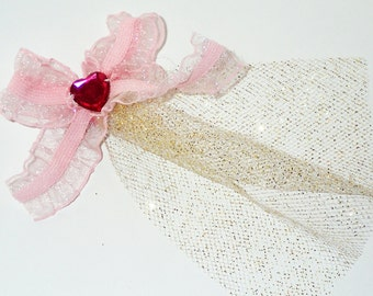 Tiny Sparkly Pink Bow