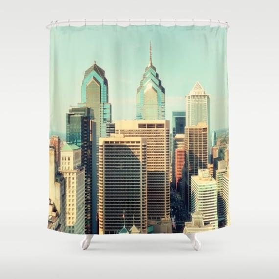 Shower Curtain Philadelphia Skyline Extra By Mscottphotography