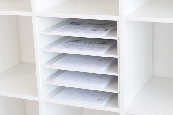 p o box shelf insert for ikea kallax shelf white. Black Bedroom Furniture Sets. Home Design Ideas