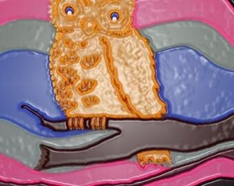 Blue eyed owl print