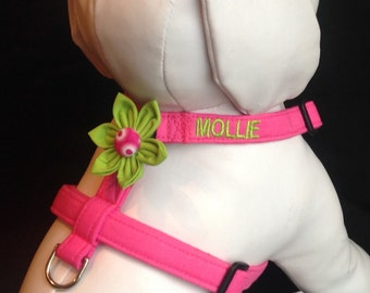 Dog Harness Black Amp Pink Sparkly Polka By Chiwawagearharnesses