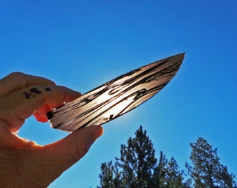 Midnight Lace Obsidian Knife Blade Preform Slab • Knapping Knife Making H66