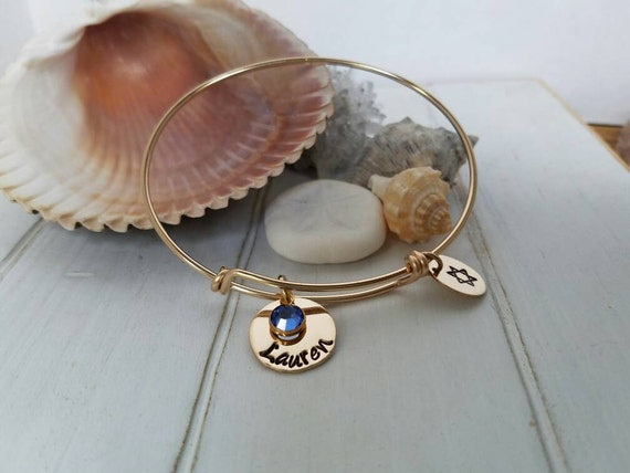 Gold Expandable Bracelet, 14kt Gold Filled Bangle Bracelet, Expandable Charm  Bracelet, Charm Bracelet, Personalized Adjustable Bangle