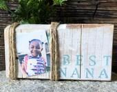 Nana Gift  - Wood Block - Block Picture Frame - Nana Sign - Pallet Wood Frame