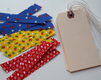 Limited Stock! Decorative Fabric Tape Pack Made From Vintage Fabrics for Crafting, Planner Supplies, Scrapbooking Projects