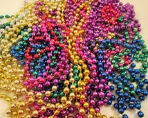 Mardi Gras Bead Assortment 39 pcs Costume Dress Up Party Repurpose Multi Colors Festival Party Favors