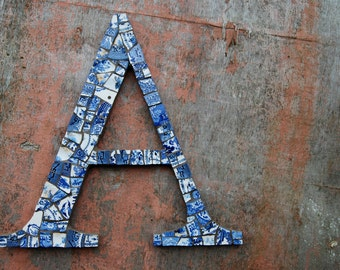 Large mosaic letter A