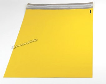100 Pack NEW -12x15.5  ~Yellow Poly Mailers, Flat Poly Mailing Shipping Bags, Poly Mailer Shipping Envelope Plastic Shipping Bags