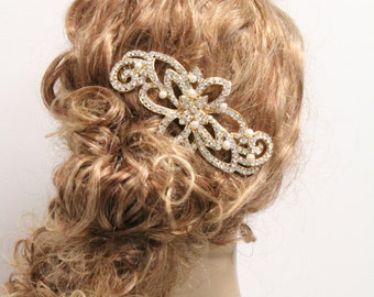 Gold Wedding headpiece Gold Bridal hair comb Gold Wedding hair piece Gold Wedding hair accessories Gold Bridal hair piece Wedding hair comb