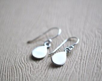 Drop Earrings - Sterling Silver Teardrop Earrings - Simple Silver Drop Earrings - Modern Earrings - Minimalist Drop Earrings