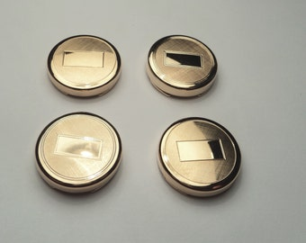 4 pcs - Gold plated Button Covers  - bc05