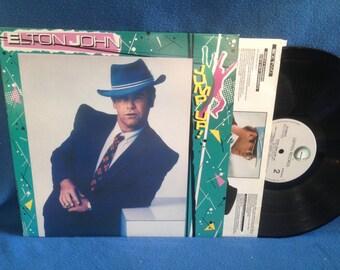 "Vintage, Elton John - ""Jump Up!"", Vinyl LP, Record Album, Original First Press, Ball & Chain, Blue Eyes, Empty Garden (Hey, Hey Johnny)"