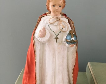 Vintage Infant Jesus of Prague Statue