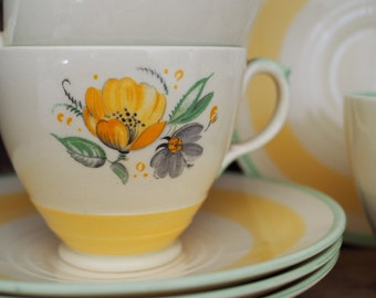 Vintage China Tea Set Yellow