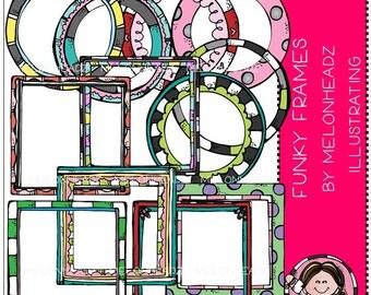 Funky Frames clip art - Combo Pack