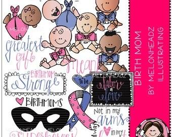 Birth Mom clip art - COMBO PACK