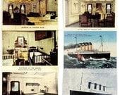 Set of 9 Vintage Mini Titanic Postcards