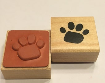 small paw print rubber stamp, 20 mm (F1)