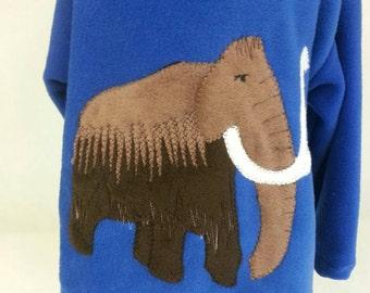 Woolly mammoth dinosaur boys hoodie