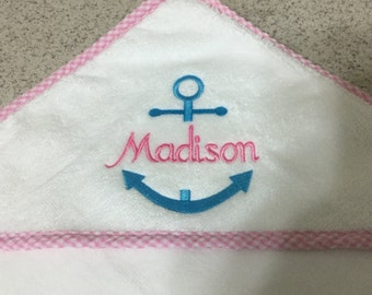Baby Hooded Towel Monogrammed